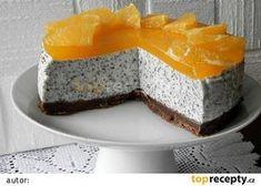 Makový nepečený cheesecake s pomerančem Czech Recipes, Cheesecake Recipes, No Bake Desserts, No Bake Cake, Amazing Cakes, Baking Recipes, Sweet Recipes, Cupcake Cakes, Cake Decorating