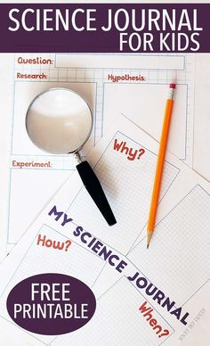 Free printable science journal for kids! Encourage kids to answer questions about their world with this printable question & experiment journal. Makes a great science project planner too! Inspired by Ada Twist, Scientist.