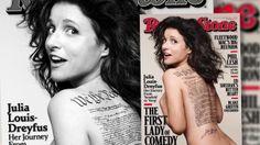 Julia Louis-Dreyfus posa desnuda para Rolling Stone