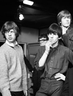 Very young Rolling Stones ~ mick jagger, keith richards, and brian jones