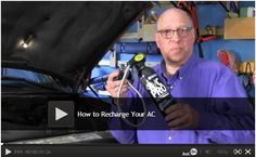 #Video: How to Recharge Your AC - Rick Muscoplat, an automotive expert at The Family Handyman, will show you how to recharge your car's air conditioner yourself. After this video, you'll be getting ice cold air blowing through your vents once again. Watch: http://www.familyhandyman.com/automotive/how-to-recharge-your-ac/view-all