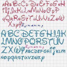 alphabet disney - bold or light Disney Alphabet, Disney Letters, Cross Stitch Letters, Cross Stitch Charts, Cross Stitch Designs, Cross Stitch Font, Embroidery Alphabet, Embroidery Patterns, Stitch Patterns