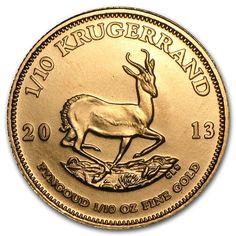 South African Krügerrand / Krugerrand 2013 1/10oz Fyngoud Fine Gold