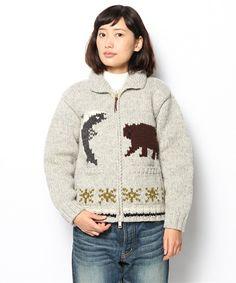 fennicaのCANADIAN SWEATER COMPANY×fennica / HOKKAIDO COWICHAN(zip type)です。こちらの商品はBEAMS Online Shopにて通販購入可能です。