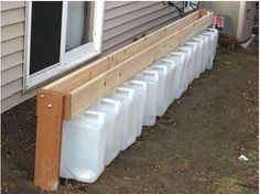 Collecting rain water without a downspout