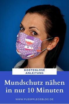 Step-by-step, to your own mouth protection mask. With this guide, you can, with just a few steps, your own Mouth guard even sew! Mouth Guard, Creation Couture, Feet Care, Diy Face Mask, Lilly Pulitzer, Sewing Projects, Sewing Patterns, Knitting Patterns, Short Hair Styles