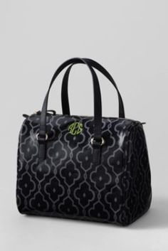 eac9cc639eca7 Women s Print Coated Canvas Satchel from Lands  End