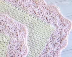 Crochet Baby Blanket PATTERN 18 Sweet Heart di CaliChicPatterns