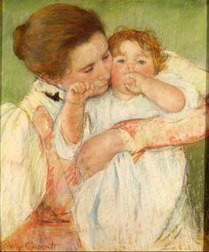 Little Ann Sucking Her Finger - Mother And Child