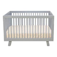 Babyletto Hudson 3 in 1 Convertible Crib with Toddler Rail. Love this color. There are cribs at Ikea that are half the cost though.