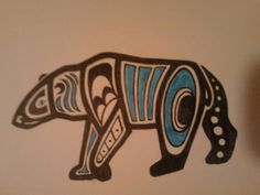 Haida Polar bear by sedo-mare on DeviantArt Haida Tattoo, Inuit Kunst, Inuit Art, Arte Tribal, Tribal Art, Alaska Tattoo, Polar Bear Tattoo, Kunst Der Aborigines, Sketch Manga