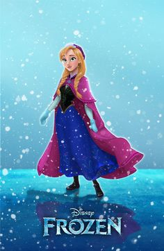 """Princess Anna from the upcoming Disney film """"Frozen"""", losely based on Hans Christian Andersen's """"The Snow Queen"""" fairy tale. Anna & Frozen © to Disney Princess Anna of Frozen Walt Disney Anna Frozen, Frozen Movie, Frozen Disney, Frozen 2013, Frozen Snow, Frozen Stuff, Walt Disney, Disney Magic, Disney Art"""