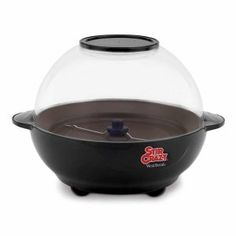 West Bend 82306 Stir Crazy Electric Popcorn Popper - This popcorn maker makes 6 quarts of popcorn the fast and easy way. Best Popcorn Maker, Best Microwave Popcorn, West Bend Stir Crazy, Stir Crazy Popcorn, Small Kitchen Appliances, Home Appliances, Black Appliances, New West, Specialty Appliances