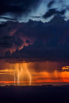 thelordismylightandmysalvation: Lightning Dawn from the Navajo Nation beyond the Grand Canyon, Arizona