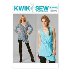 Kwik Sew K4085 Misses' Tops  All Sizes