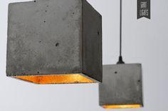 Concrete gold design concrete lamp lamp lamp B1 on Etsy, $169.61 CAD