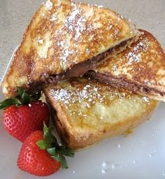 Nutella Stuffed French Toast Breakfast Recipe