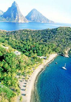 Pitons, #StLucia #Caribbean