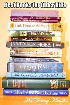 Best Books for Older Kids ages 9-12 | The Destiny Manifest