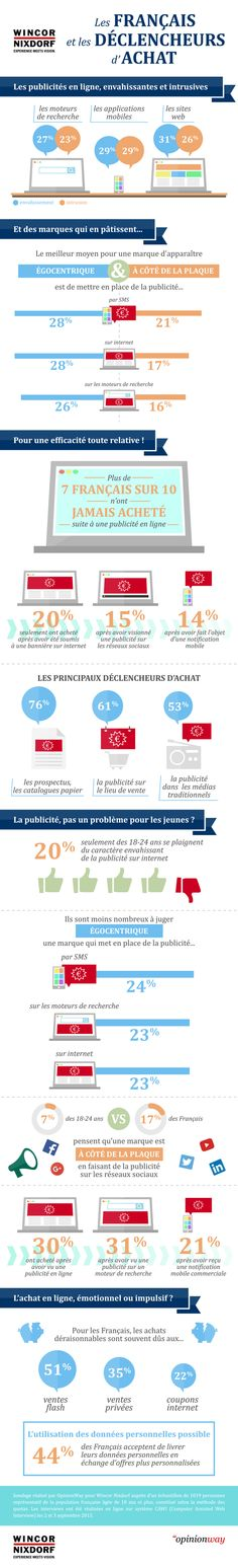 La publicité en ligne donne peu envie aux Français d'effectuer des achats [Infographie]