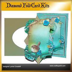 Bird & Flowers Diamond Front Card Kit