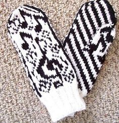 Love's Sweet Song pattern by Mona Bultena Mittens Pattern, Knit Mittens, Knitting Socks, Mitten Gloves, Knitted Hats, C2c Crochet, Crochet Gloves, Fair Isle Knitting, Hand Warmers