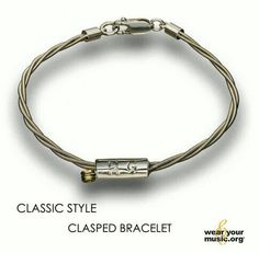 A bracelet made out of guitar strings John Mayer used on tour, and sterling silver. 100% of net profits are donated to the Back To You Fund that John founded.