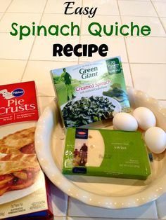 Easy Spinach Quiche Recipe