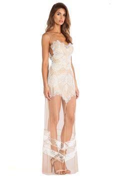 For Love & Lemons Antigua Maxi Dress in White