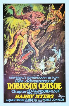 16x24 Movie Robinson Crusoe 1922 Large Framed Print Cinema Theater Old Retro Motion PictureCreative Reproduction Art Custom Fantasy Artwork by GeorgeSher on Etsy