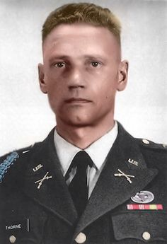 Lauri Allan Törni (28 May 1919 – 18 October 1965), later known as Larry Thorne, was a Finnish Army captain who led an infantry company in the Finnish Winter and Continuation Wars and moved to the United States after World War II. He fought under three flags: Finnish, German (when he fought the Soviets in World War II), and American (where he was known as Larry Thorne) when he served in U.S. Army Special Forces in the Vietnam War.  http://en.wikipedia.org/wiki/Lauri_Törni