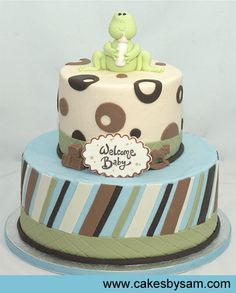 Frog baby shower cake. Boy or girl, I'm definitely having a frog themed baby shower! :)