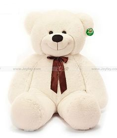 Giant teddy bear http://www.joyfay.com/us/giant-huge-fat-47-white-teddy-bear-stuffed-plush-toy.html