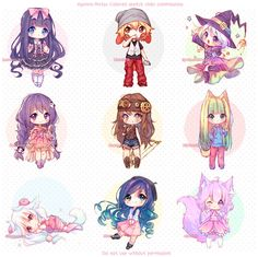 [+Video] Commission - Sketch Chibis! by Hyanna-Natsu.deviantart.com on @DeviantArt