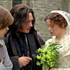 tommy hardy heathcliff charlotte riley cathy wuthering  wuthering heights 2009 heathcliff cathy and linton on their wedding day