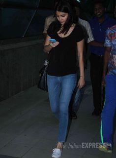 Anushka Sharma spotted at the Mumbai airport. #Bollywood #Fashion #Style #Beauty