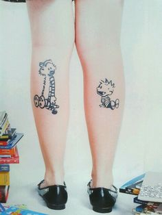 My Calvin and Hobbes tattoos :) ♥ Photo by Matheus Brito ♥ Tattoos by Wandré C Silva (Estúdio Heyokah) ♥