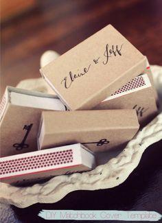 Ideas para bodas: DIY para personalizar cajas de cerillas /caja de fósforos.