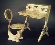 Lady's Writing Desk and Chair - Carlo Bugatti