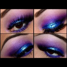 Makeup blue purple sparkle