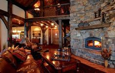 Yes please...beautiful rustic home