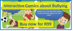 Interactive comic strips teaching young children empathy to prevent bullying, available in English, Afrikaans, Xhosa, Spanish & French. Anti Bullying Campaign, Bullying Prevention, Stop Bullying, Bullies, Teaching Kids, Schools, Behavior, Language, Adventure