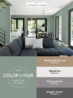 Colors For Living Rooms 2016 Room Tables Set 220 Best Popular Paint Images Colores Color Forecasts And Trends Green Accent Walls In