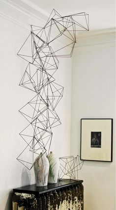 Wire Crystals // interesting way to create height and interest