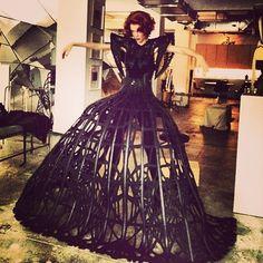 COCO ROCHA WEARING MALGORZATA DUDEK #raven queen