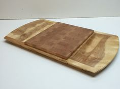 Curly Birch and Cherry Cheese and Cracker Tray by HartmanWoodworks on Etsy