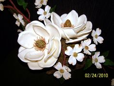 Sugarpaste Southern Magnolias