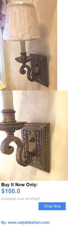 Chandeliers Fixtures and Sconces: One Traditional Style Hard Wired Wall Sconce, 6 Projection, One Avail BUY IT NOW ONLY: $100.0 #ustylefashionChandeliersFixturesandSconces OR #ustylefashion