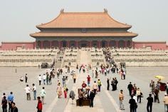 The Forbidden City in Beijing, China.  This place is PACKED in the summer.  This isn't anything compared to the way it is during that time.