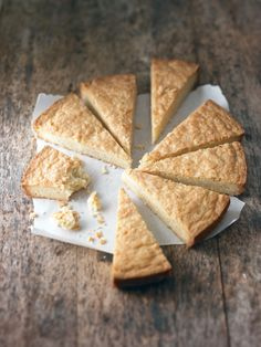 Citrus Shortbread Wedges with Rosemary